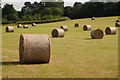 SO8845 : Hay bales at Croome by Philip Halling