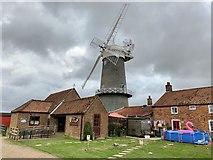 TF7632 : Bircham Windmill and bakery by Andrew Abbott