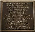 SE9690 : WW1 War memorial plaque by Ian S