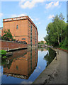 SK5739 : Reflections in the Nottingham Canal by John Sutton