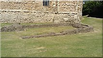 TL9925 : View of the remains of the keep of Colchester Castle #2 by Robert Lamb