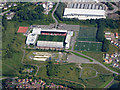 NS7274 : Broadwood Stadium from the air by Thomas Nugent
