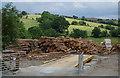 SO0954 : Timber yard, Llansantffraed-in-Elwel by Andrew Hill