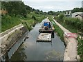SO8503 : Workboat below Ham Mill Lock, Thames & Severn Canal by Christine Johnstone