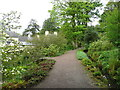 SN5822 : Path in the Jubilee Garden, Aberglasney by Humphrey Bolton