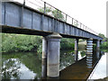 SE2137 : Disused railway bridge over the Aire at Horsforth by Stephen Craven
