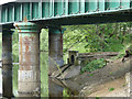 SE2137 : Drainage outfall below a railway bridge by Stephen Craven