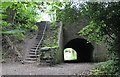 SO2414 : Tunnel and steps, Gilwern Aqueduct by M J Roscoe