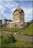 NT6126 : The refurbished Monteath Mausoleum on Gersit Law by Walter Baxter