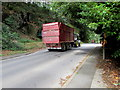 SN3040 : Tractor and trailer on the A484, Newcastle Emlyn by Jaggery