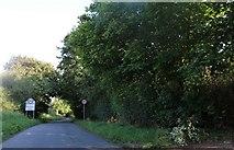 TL4439 : Entering Chrishall on Palmers Lane by David Howard