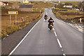 HU4250 : Motorcyclists on the A970 near Girlsta by David Dixon