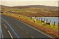 HU4352 : A970 passing Loch of Girlsta by David Dixon