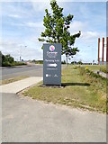 TL4654 : Cambridge Biomedical Campus Marketing Suite sign by Adrian Cable
