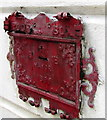 SS5533 : Late Victorian poor box on a town centre corner, Barnstaple by Jaggery