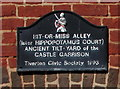 SS9512 : Hit-or-Miss Alley plaque, Tiverton by Jaggery