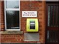 SK9924 : Defibrillator at Methodist Church by Bob Harvey