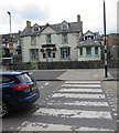 SO0451 : Zebra crossing, A483 Strand, Builth Wells by Jaggery