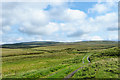 NY7834 : Hill road and moorland east of Crook Burn by Trevor Littlewood
