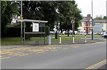 ST3390 : High Street bus stop and shelter, Caerleon by Jaggery
