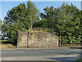 SE3227 : Former railway bridge abutment, Leadwell Lane by Stephen Craven