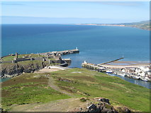 SC2484 : Peel castle and beach, Isle of Man by Patrick Hamilton