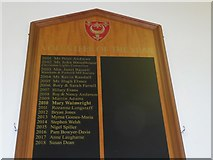 SY9287 : Volunteer of the Year Board, Wareham Town Hall by Basher Eyre