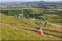 NT2466 : Outlook from Hillend Ski Centre by Jim Barton