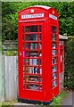 SU5769 : Book exchange facility in a former telephone kiosk, Chapel Row, near Bucklebury, Berks by P L Chadwick