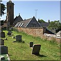 SY0885 : Otterton Churchyard and School by Brian Westlake