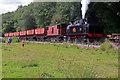 SJ9744 : Foxfield Railway - back down the bank by Chris Allen