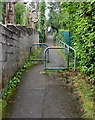 ST1797 : Metal barriers across a path, Blackwood by Jaggery