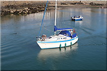 NW9954 : Tilandah approaching Inner Harbour, Portpatrick by Billy McCrorie