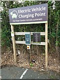 SX5452 : Otter Garden Centre: electric car charging point by Martin Bodman