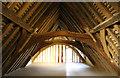 SP8796 : Lyddington Bede House roof by Richard Croft