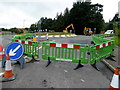 H4671 : Roads closed, Bankmore Roundabout, Galbally by Kenneth  Allen