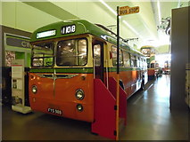 NS5565 : Single Deck Trolleybus in Riverside Museum (1) by David Hillas