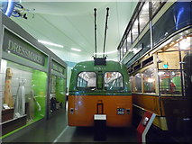 NS5565 : Single Deck Trolleybus in Riverside Museum (2) by David Hillas