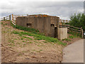 SO7105 : Second World War Pill Box near Middle point by David Dixon