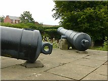 SK5640 : Two cannons on the Crimean War Memorial, Nottingham Arboretum by Alan Murray-Rust