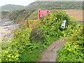 SS4885 : Footpath closed! by Eirian Evans