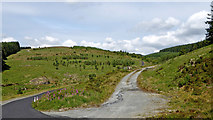 SN8056 : Mountain roads in Cwm Tywi, Powys by Roger  Kidd