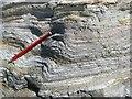 SH3293 : Folded strata by Jonathan Wilkins