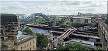 NZ2563 : Tyne, Swing and High Level Bridges by Chris Morgan