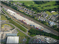NS4463 : The Malcolm Logistics West of Scotland Rail Terminal from the air by Thomas Nugent