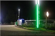 SK9689 : BP garage at Caenby Corner by David Howard