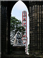 NT2573 : Sir Walter and the Edinburgh Festival Wheel by David Dixon