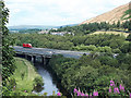 NY6103 : M6 crossing the river Lune by Stephen Craven