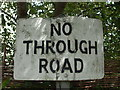 ST6990 : Battered 'No Through Road' sign by Neil Owen