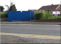 ST3090 : Blue container, Pillmawr Road, Malpas, Newport by Jaggery